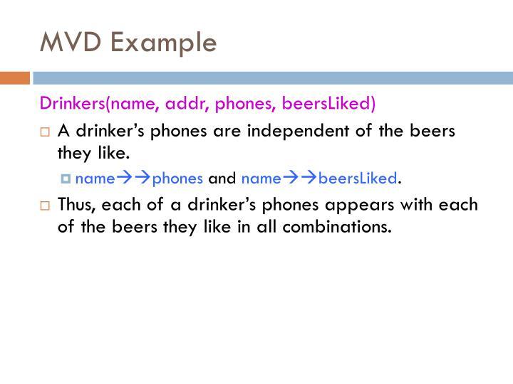 MVD Example