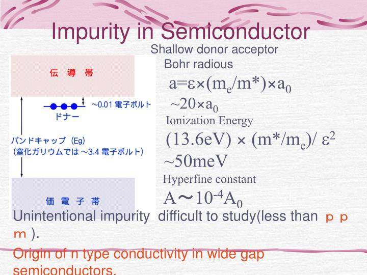 Impurity in semiconductor