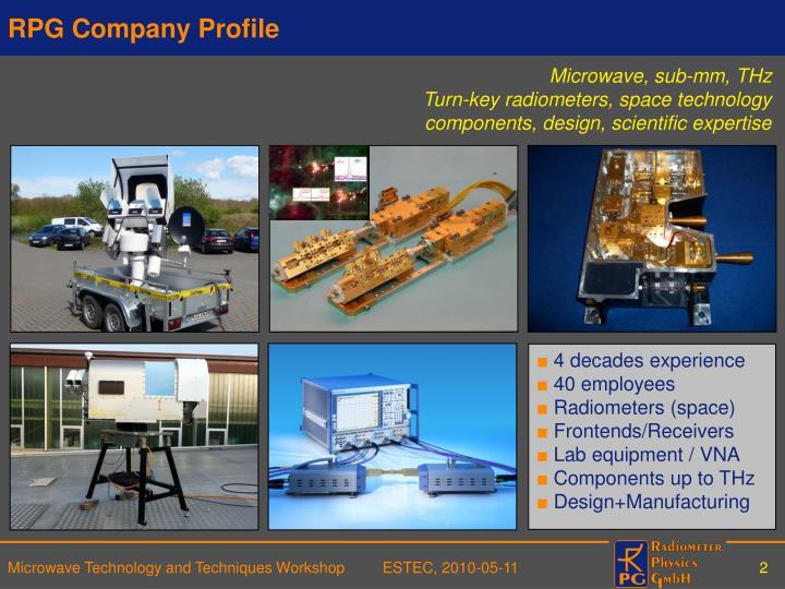 Rpg company profile