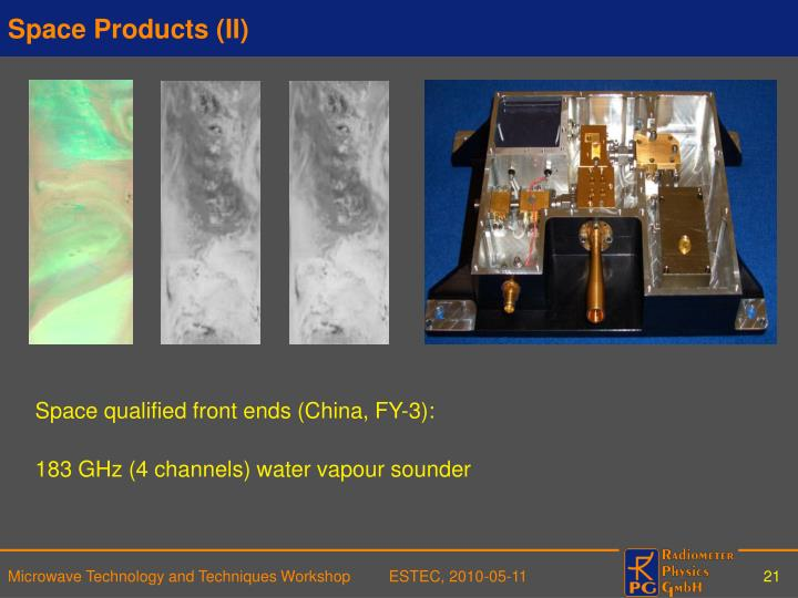 Space Products (II)