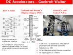 dc accelerators cockroft walton
