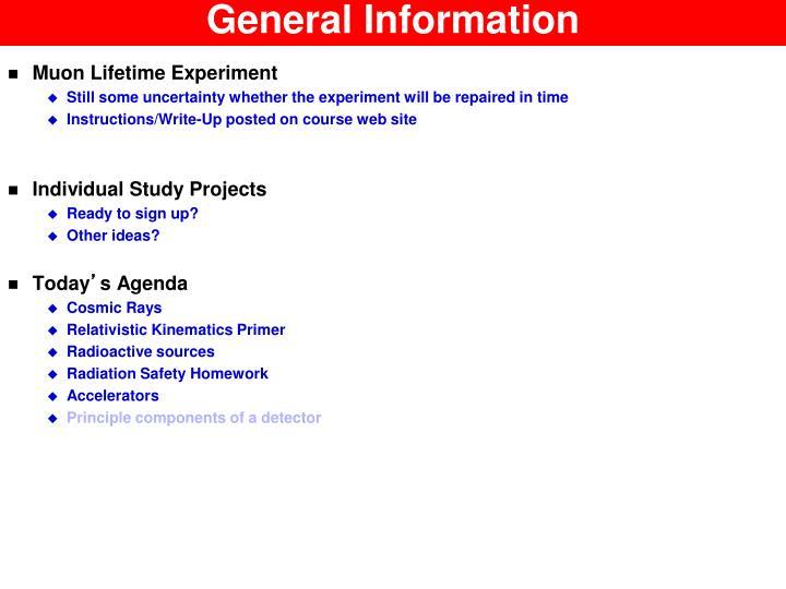 general information n.