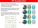 rf acceleration