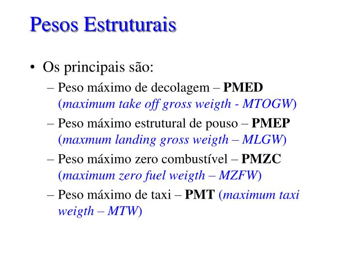 Pesos estruturais