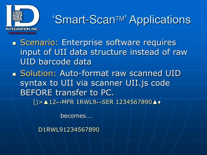 Smart scan tm applications