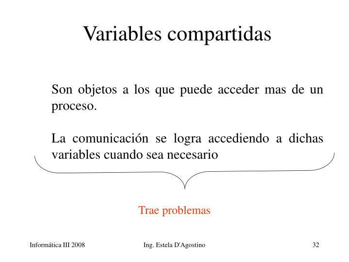 Variables compartidas
