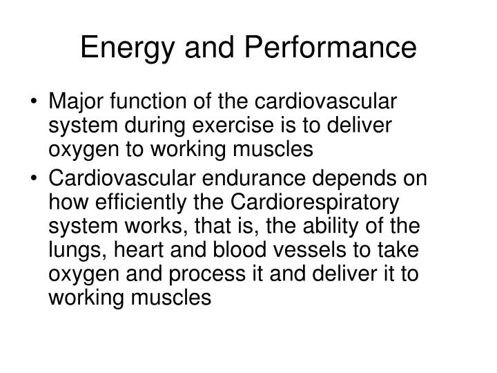 Energy and performance