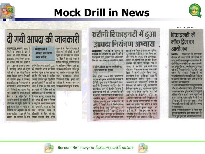 Mock Drill in News