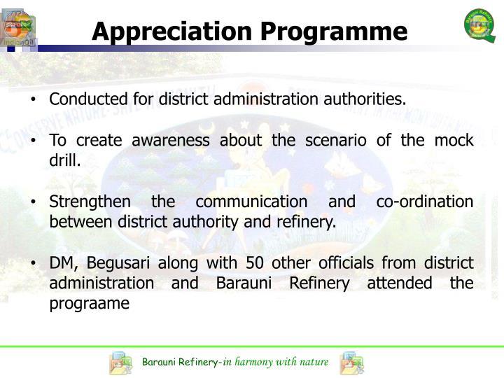 Appreciation Programme