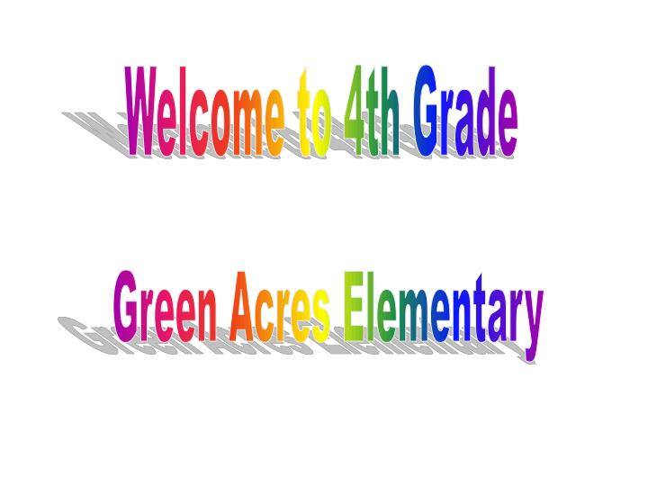 Welcome to 4th Grade