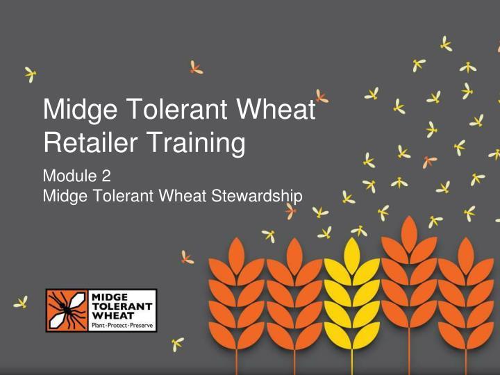 midge tolerant wheat retailer training n.