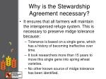 why is the stewardship agreement necessary