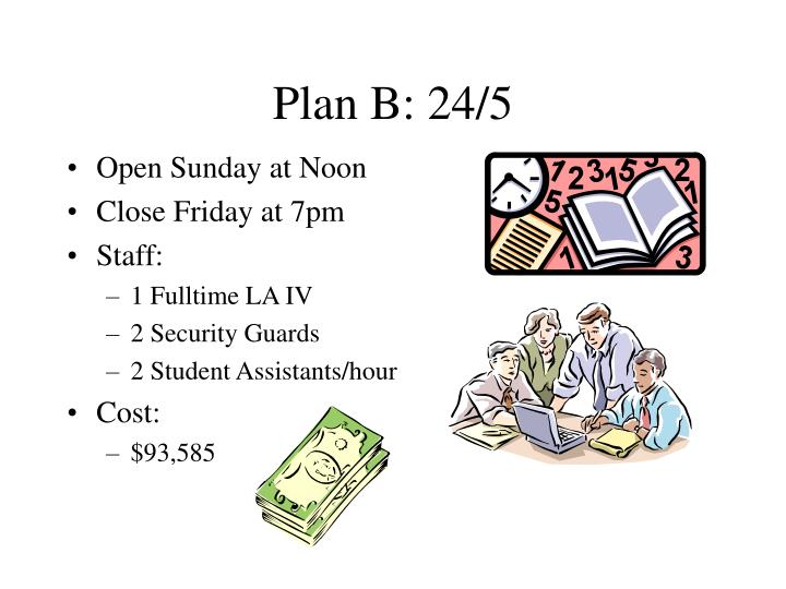 Plan B: 24/5