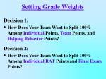 setting grade weights