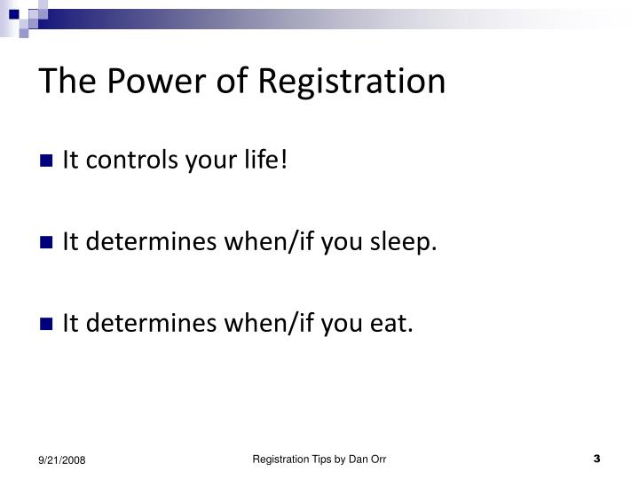 The power of registration