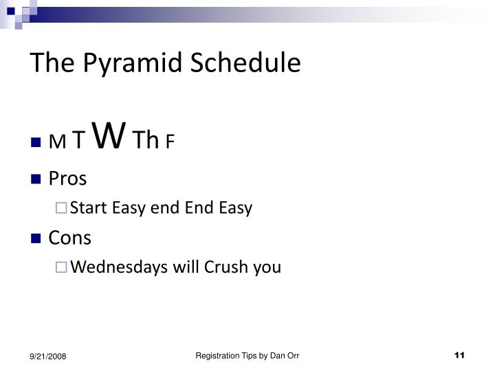 The Pyramid Schedule