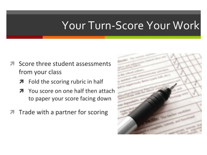 Your Turn-Score Your Work