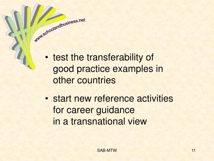 test the transferability of