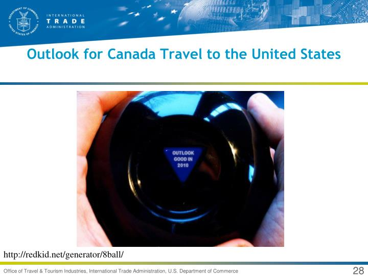 Outlook for Canada Travel to the United States