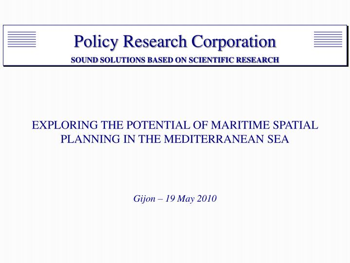 exploring the potential of maritime spatial planning in the mediterranean sea n.