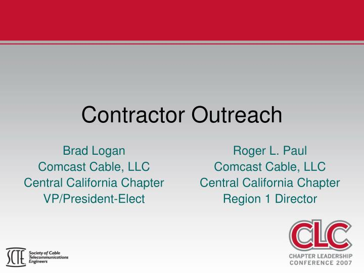 contractor outreach n.
