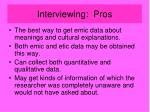 interviewing pros