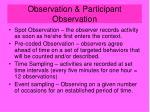 observation participant observation