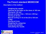 the french standard modecom