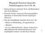 marginale existenz deutscher schriftzeugnisse im 9 10 jh
