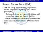 second normal form 2nf