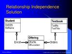 relationship independence solution
