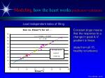 modeling how the heart works prediction validation