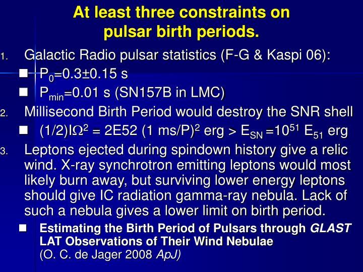 Galactic Radio pulsar statistics (F-G & Kaspi 06):