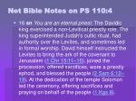 net bible notes on ps 110 4