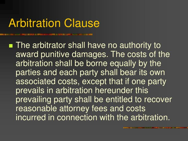 Arbitration Clause