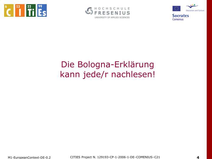 Die Bologna-Erklärung