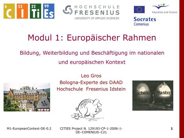 Modul 1: Europäischer Rahmen
