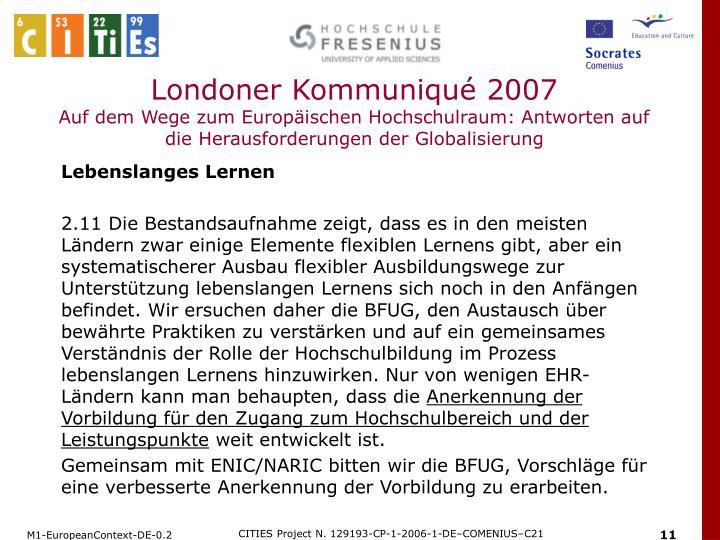 Londoner Kommuniqué 2007
