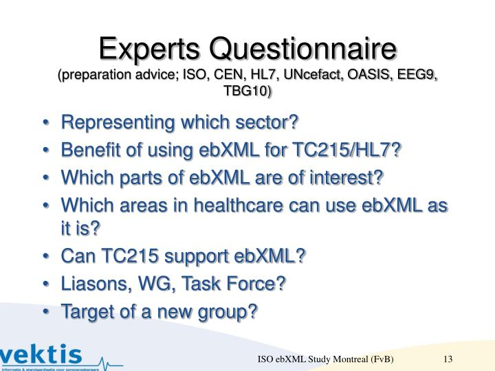 Experts Questionnaire