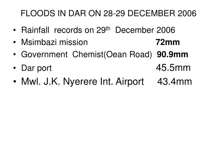 floods in dar on 28 29 december 2006