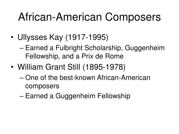 African-American Composers