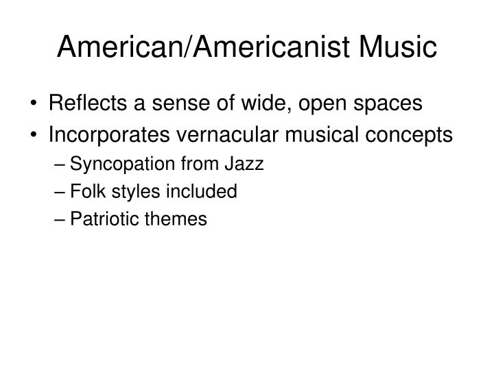 American/Americanist Music