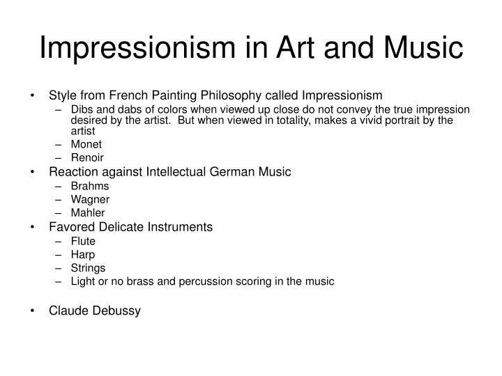 Impressionism in Art and Music