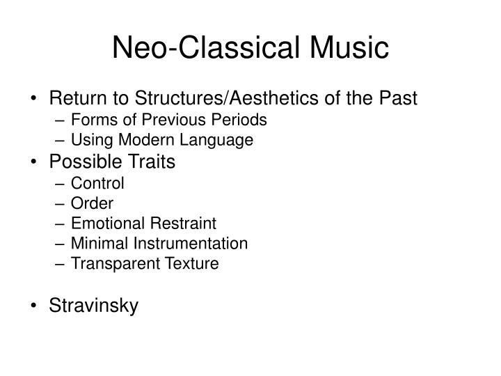 Neo-Classical Music