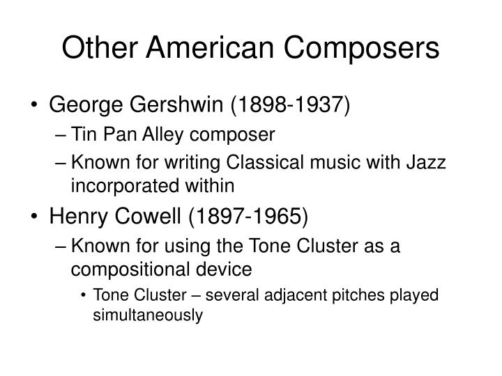 Other American Composers