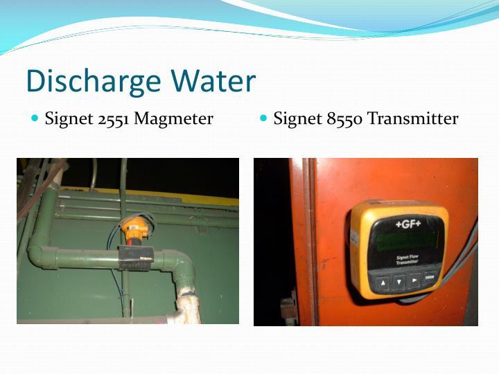 Discharge Water