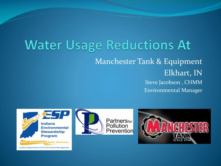 Water usage reductions at
