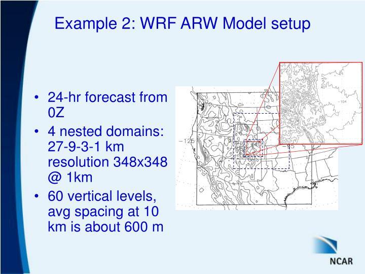 Example 2: WRF ARW Model setup
