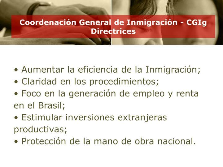Coordenación General de Inmigración - CGIg
