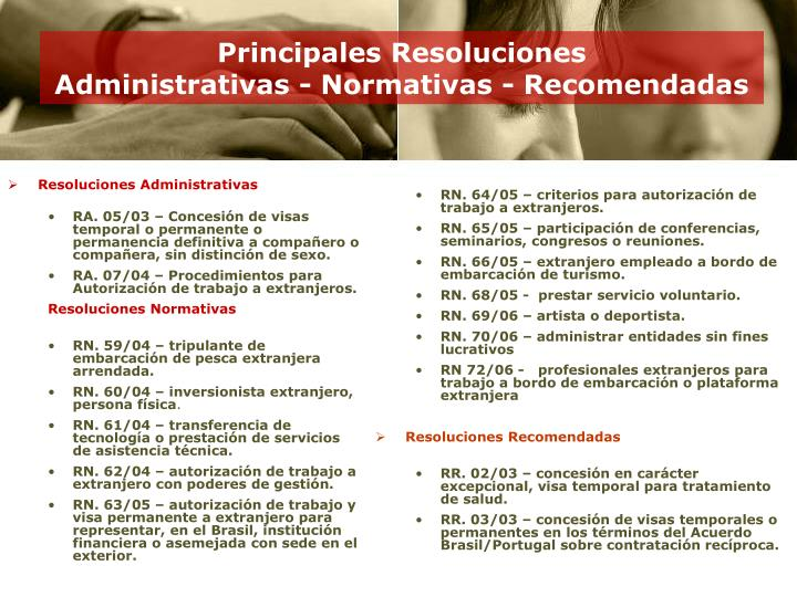 Resoluciones Administrativas